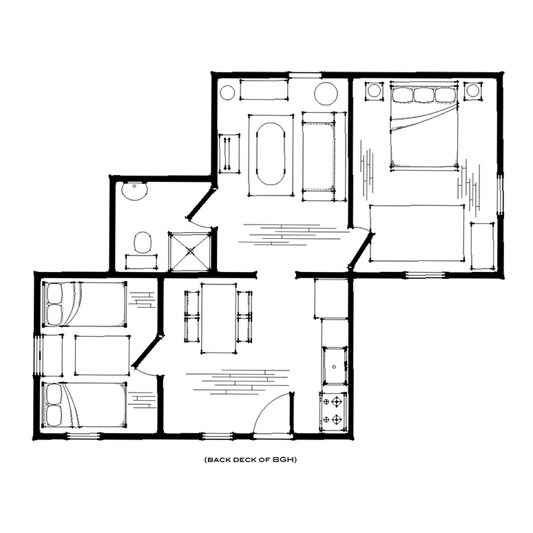 Boise Guest House Treetop Suite Number 6 Floorplan